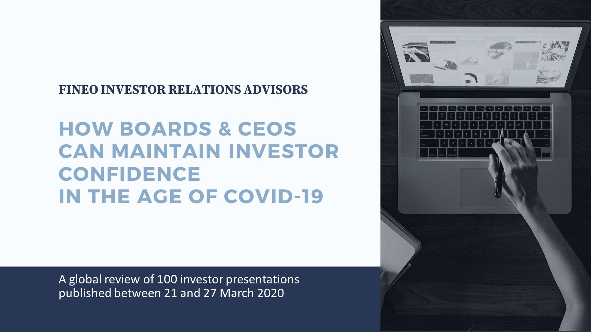 Maintaining investor confidence in the age of Covid-19